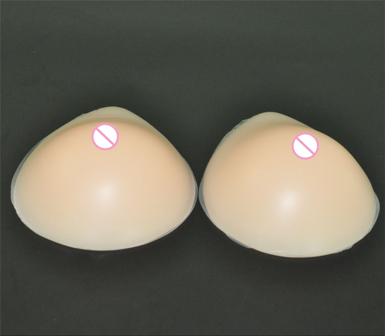 цены 1pair 1000g D cup Beige Woman realistic silicone breast forms fake breast Boobs Push up Bra Insert pads crossdresser mastectomy