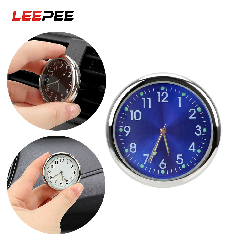 LEEPEE Car Clock Analog Watch Luminous Car Air Outlet Decoration Auto Ornaments Quartz Clocks Auto Accessories Car-styling