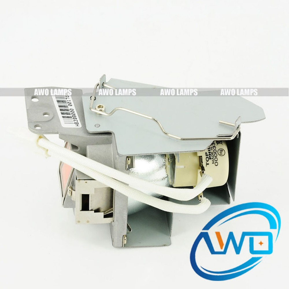 AWO Original Projector Lamp 5J.J7K05.001 with New Housing W750/W770 Replacement for BENQ Projectors original 5j 08001 001 projector lamp with housing for benq mp511