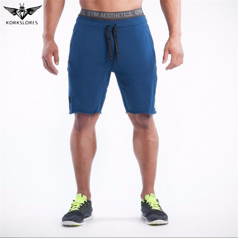 KORKSLORES 2017 Top Quality Men Casual Brand Gyms Fitness Shorts Men Professional Bodybuilding Short Pants Hot sell