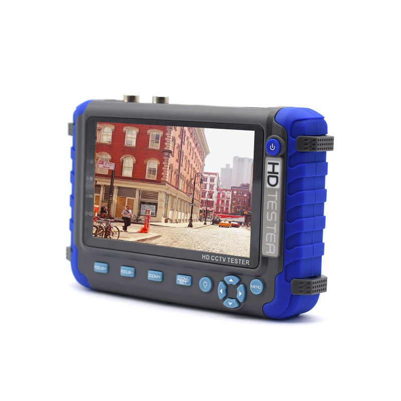 5 inch 5MP 4MP 1080P AHD TVI CVI CVBS Analog Video Security Camera CCTV tester monitor Support HDMI/VGA input Net Cable test