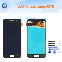 For Samsung Galaxy A3 2016 A310 LCD display+touch screen digitizer assembly A310F A310M A310H A3100 4.7″ pantalla black white