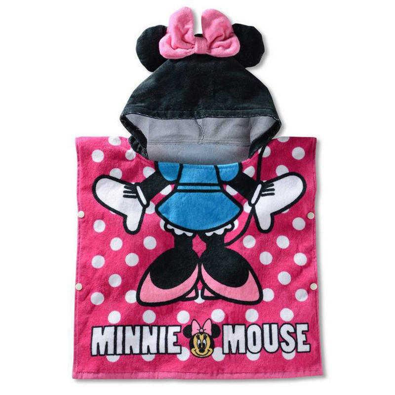 3da38a6620aa5e Disney Kids Hooded Badhanddoek Kind Ademend Katoen Gaas Mantel Strandlaken Mickey  Minnie Cartoon Jongen meisje Zowel