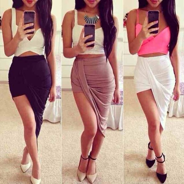 Maxi Skirt With Slits On Both Sides - Skirts