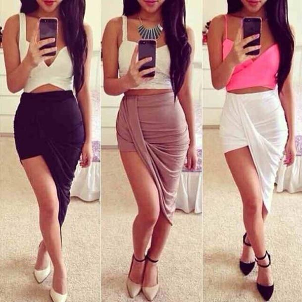 Open Side Maxi Skirt - Skirts