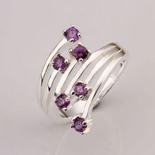 Estilo de verano fina artificial 925-sterling-silver platea los anillos plateados de la joyería de plata anillos de boda para las mujeres SR339