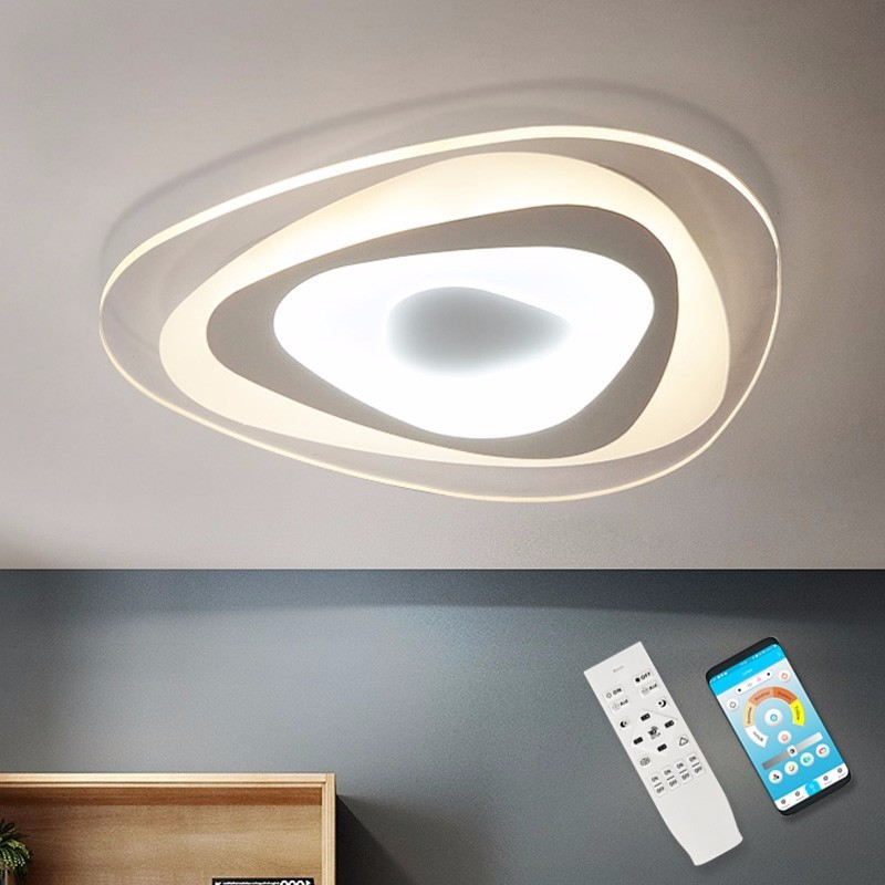 Modern LED Ceiling Light For Dining Room Indoor Home Simple Lighting Acrylic Lampshade 1CM Bedroom Lamp Kitchen Fixtures Plafon