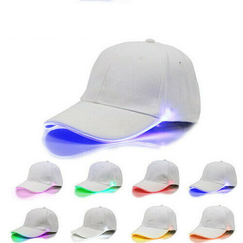 Fishing caps LED Lighted up Hat Glow Club Party Baseball Hip-Hop Adjustable Sports Cap #30 717 панама бейсболка bucket шапка