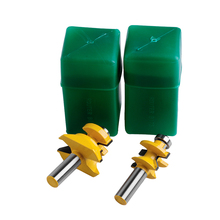 Everlasting 2x Carbide 45 dregree Router Bit 1/2 Shank x 1-1/8 Matched Tongue &Groove V-Notch New set of 2 pieces 1 4 inch shank matched tongue and groove router bit set
