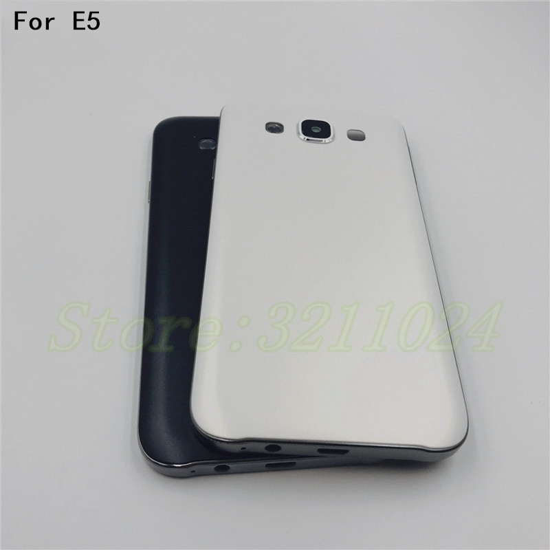 Metallic With Plastic Material Back Battery Cover Case Door Housing Cover Frame For Samsung Galaxy E5 E500 E500F E500H