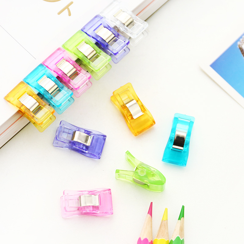 1sets(5pcs) Creative Cute Kawaii Colorful mini Paper Clips For Ticket File School Supplies Korean Stationery