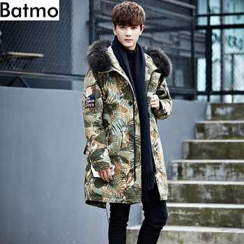 Batmo 2019 new arrival winter 80% grey duck down camouflage hooded jackets men,men's winter warm long coat  5576 - DISCOUNT ITEM  40% OFF All Category