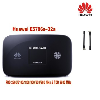 300M Fastest 4G Modem LTE WiFi Wireless Router Huawei e5786 300mbps 4g lte router Cat6 WiFi Router plus 2pcs antenna