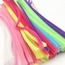 Hot! 100pcs DIY Handmade Educational Shilly Stick Plush Materials Toys For Children New Sale