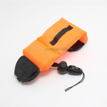 Freeshipping Orange Плавающей Пены Ремешок для Nikon Canon Fujifilm Sony Olympus Pentax Водонепроницаемый Камеры DSLR