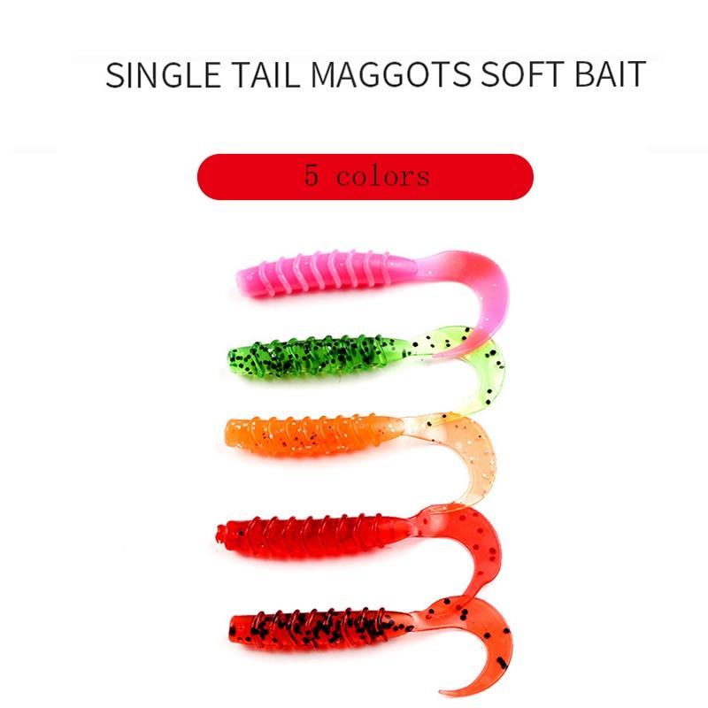 10Pcs Lot Soft Maggots Fishing Lure T Tail Fly Fishing Bait 9 5cm 9g Artificial Soft Bait Worm Swimbaits Lure Fishing 5 Colors in Fishing Lures from Sports Entertainment