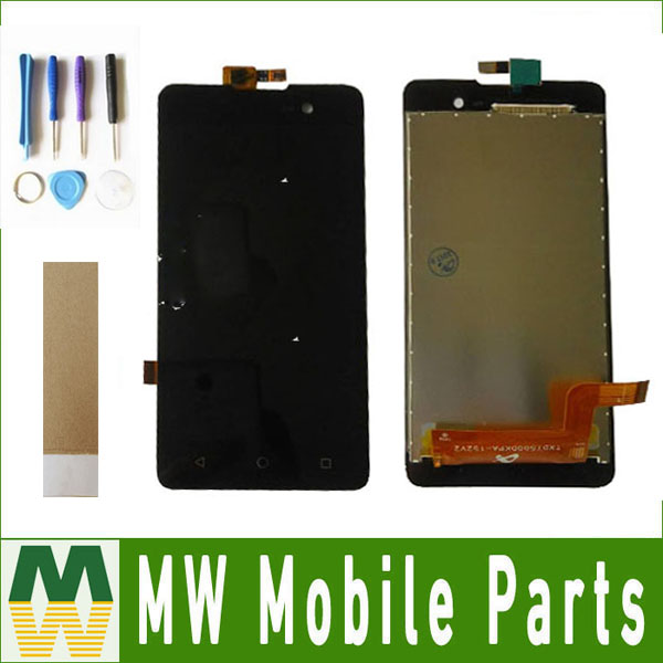 1pcs/lot For BQ BQS-5065 BQS 5065 Choice LCD Display + Touch Screen Digitizer Black Color with tools+tape
