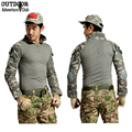 G3 Army Camouflage Tactical T Shirt Men Long Sleeve Military Uniform Combat Clothing Elbow Pads Hunt Painball Outdoors T-Shirt