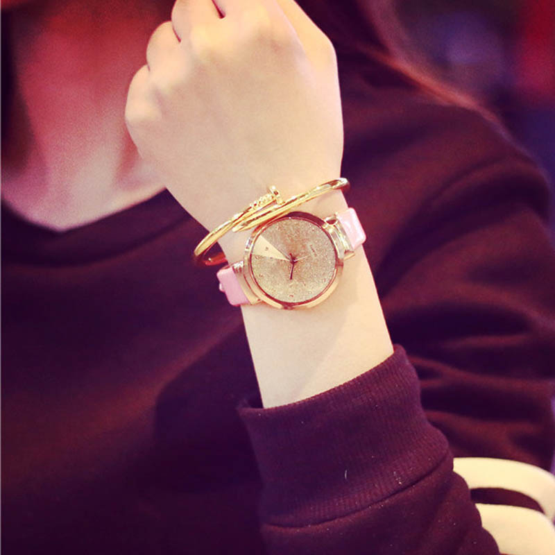 Sands Starry Eenvoudige Temperament Riem Tafel Diamant Quartz Horloge Hoge Kwaliteit Horloges #290717