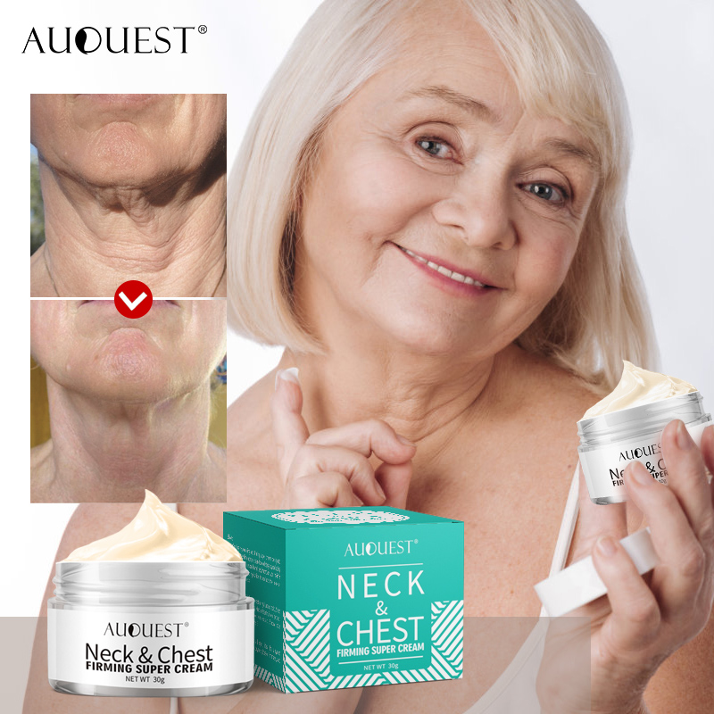 AuQuest Neck & Chest Firming Cream Anti Wrinkle Smooth Horizontal Line Collagen Lifting Neck Cream Tight Skin Repair Skin Care
