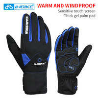 INBIKE Bike Gloves Winter Thermal Windproof Warm Full Finger Cycling Glove Climbing Ski Gloves Bicycle Gloves