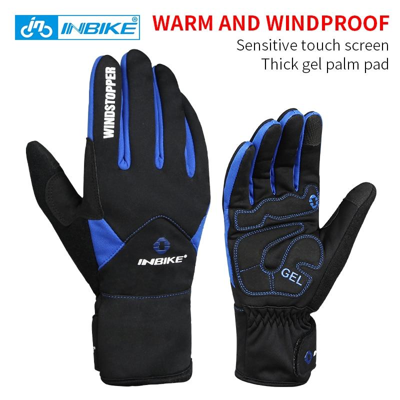 INBIKE <font><b>Bike</b></font> <font><b>Gloves</b></font> Winter Thermal Windproof Warm Full Finger Cycling <font><b>Glove</b></font> Climbing Ski <font><b>Gloves</b></font> Bicycle <font><b>Gloves</b></font> for Man Woman 966