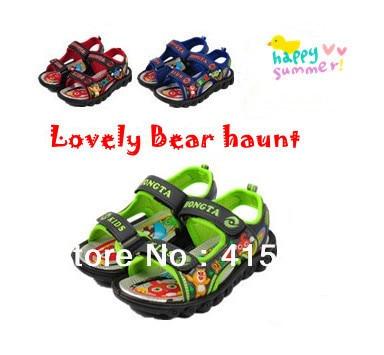 2016 New Hot Kids Sandals Children Girls & Boys Summer Bear Haunt Lovely Sandals 3 Colors F167