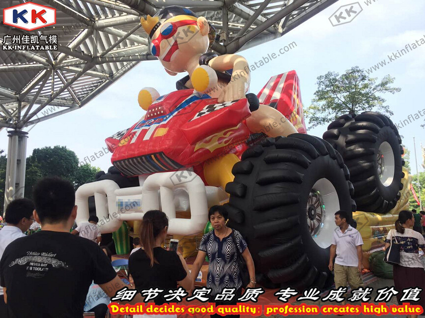 Large Outdoor Inflatable Truck Slide,Cool Boy Riding Jumping slide toys ...