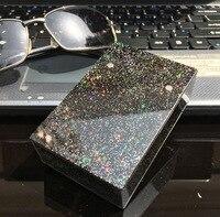 Индивидуальный Пластиковый цветной Звездный портсигар модный защитный чехол Леди Портативный Магнит Автоматическая вмещает 20 сигарет