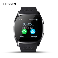 Juessen T8 Bluetooth Smart Watch Support SIM TF Card With Camera Sports Wristwatch