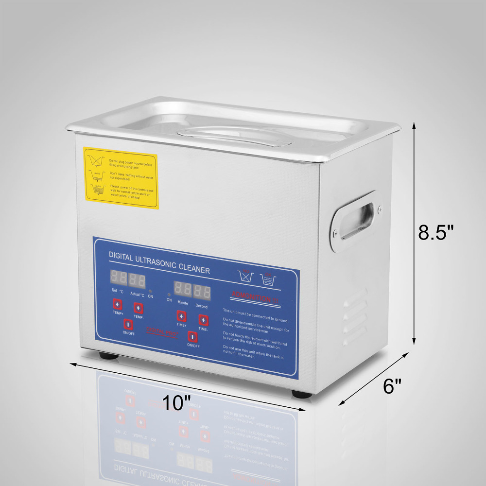 Vevor JPS 20A 3l profissional digital ultra sônico jóias líquido de limpeza - 3