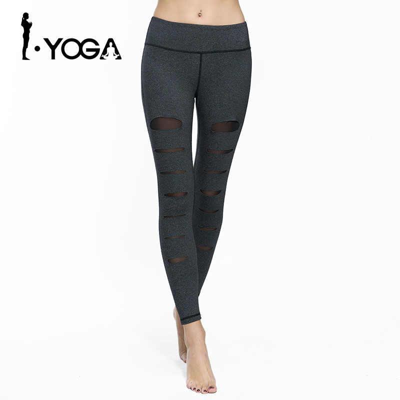Señoras pantalones de Yoga Push Up Sexy malla deportiva medias delgadas Legency mujeres Fitness gimnasio correr entrenamiento deporte desgaste Leggings atléticos