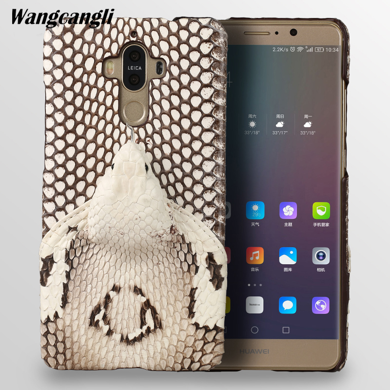 wangcangli Leather python skin cover back cover For HUAWEI Mate 9 case python skin high-end custom phone case For HUAWEI P20wangcangli Leather python skin cover back cover For HUAWEI Mate 9 case python skin high-end custom phone case For HUAWEI P20