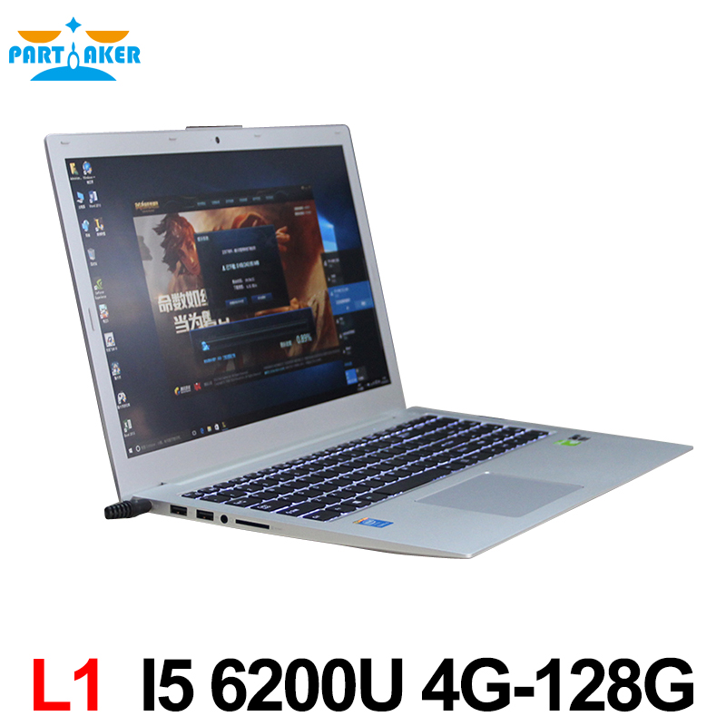 15 6 inch Intel i5 6200u Ultrabook Laptop Computer with Backlit Keyboard Dual Graphics Card Webcam