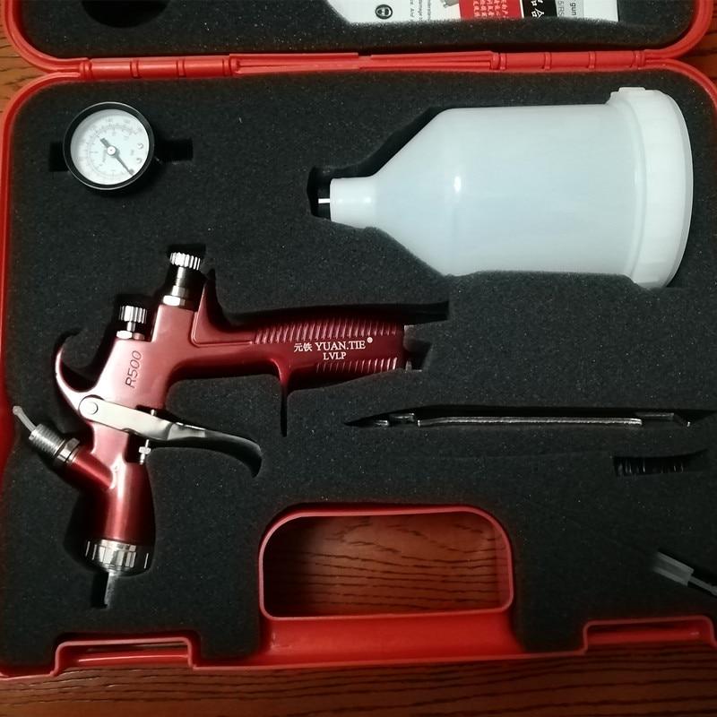 SPRAY GUN Lvlp High Quality  Air Spray Gun R500 Car Painting 1.3mm Nozzle 600cc Gravity Automotive Finishing Coat Surface Paint