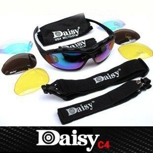 Prix pour Daizy C4 Militaire lunettes Hommes Moto Tactique lunettes de Soleil En Plein Air Lunettes Lunettes 4 Lentilles Coupe-Vent Lunettes Oculos