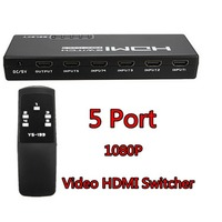5 Port Mini HDMI Video Amplifier Adapter Splitter Switch Switcher 1080P Remote Ys199 Good Quality Factory