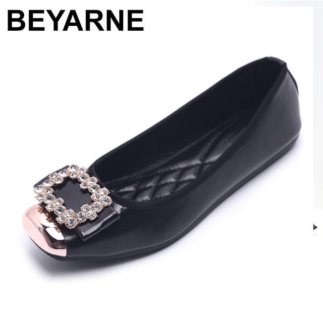 bc0c68588df Spring and Autumn Ballet Flats Women Elegant Brand Shoes Diamond Design  Women s Flats Luxury Plus Size 35-42 Free Shipping