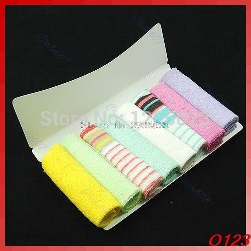 Set of 8Pcs Soft Baby Newborn Children Bath Towels Washcloth For Bathing Feeding -B116
