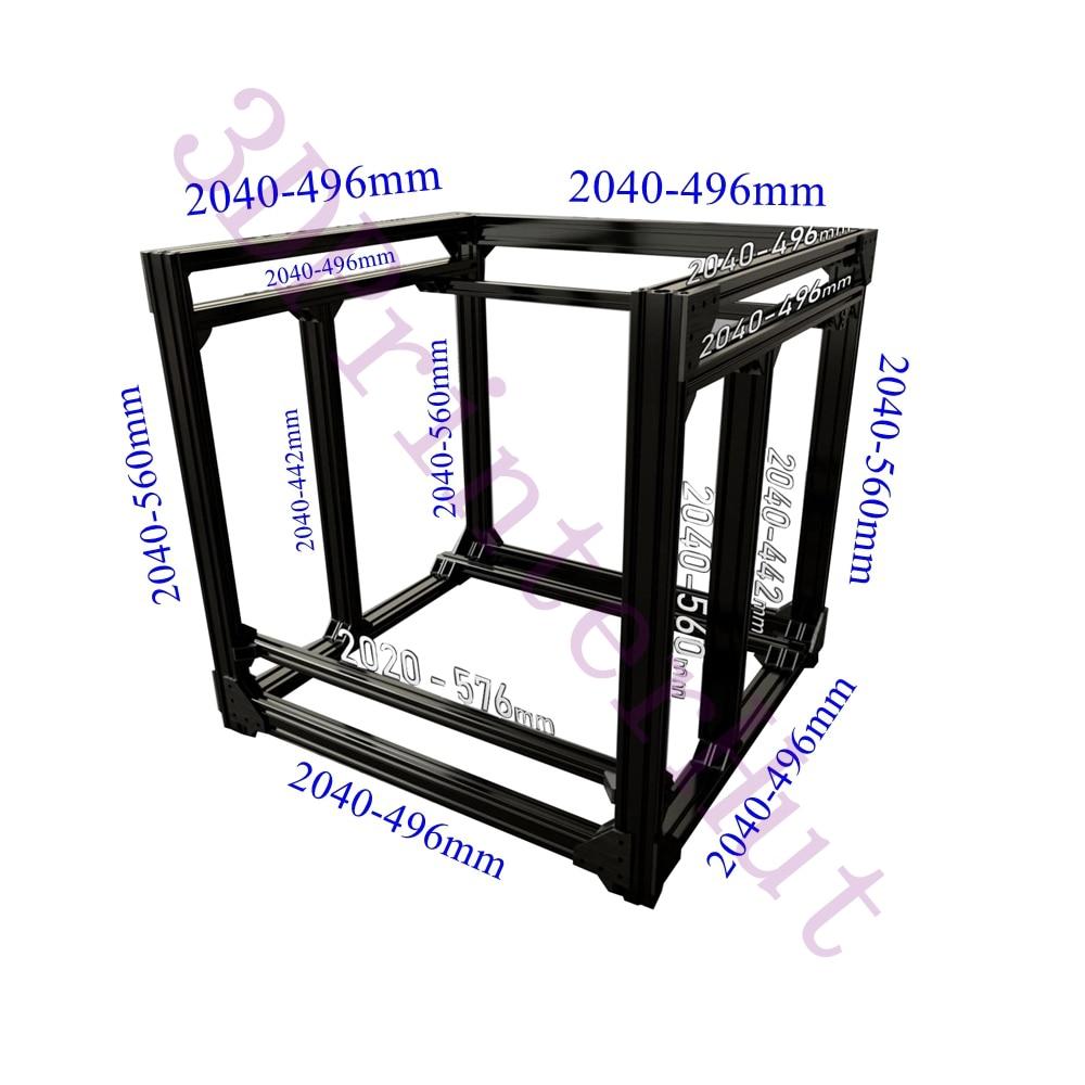 Frete grátis DHL, BLV mgn Cubo 3D Printer Extrusão De Alumínio Full Frame Kit w/Porcas Parafuso Do Suporte Canto F/CR10 365mm altura Z