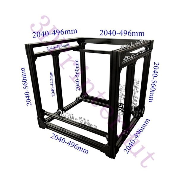 Trasporto libero del DHL, BLV mgn Cubo 3D Stampante Estrusione di Alluminio Full Frame Kit w/A Vite Staffa Angolo F/CR10 365mm Z altezza