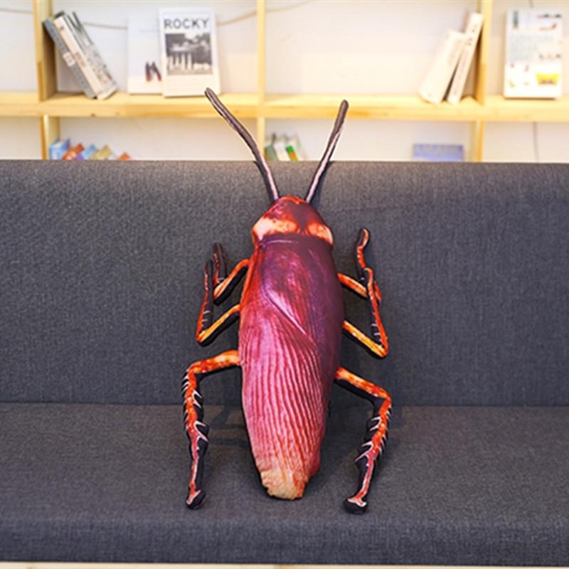 1pc 55cm Simulation Cockroach Plush Toy Stuffed Fnnuy Insect Toy Doll for Kids Creative Soft Pillow Weird Birthday Gift Toys cute insect doll toy