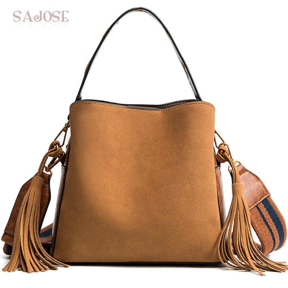 Women Tote Handbags Designer Female Vintage Vintage Bucked Hand Bag Messenger Shoulder B ...