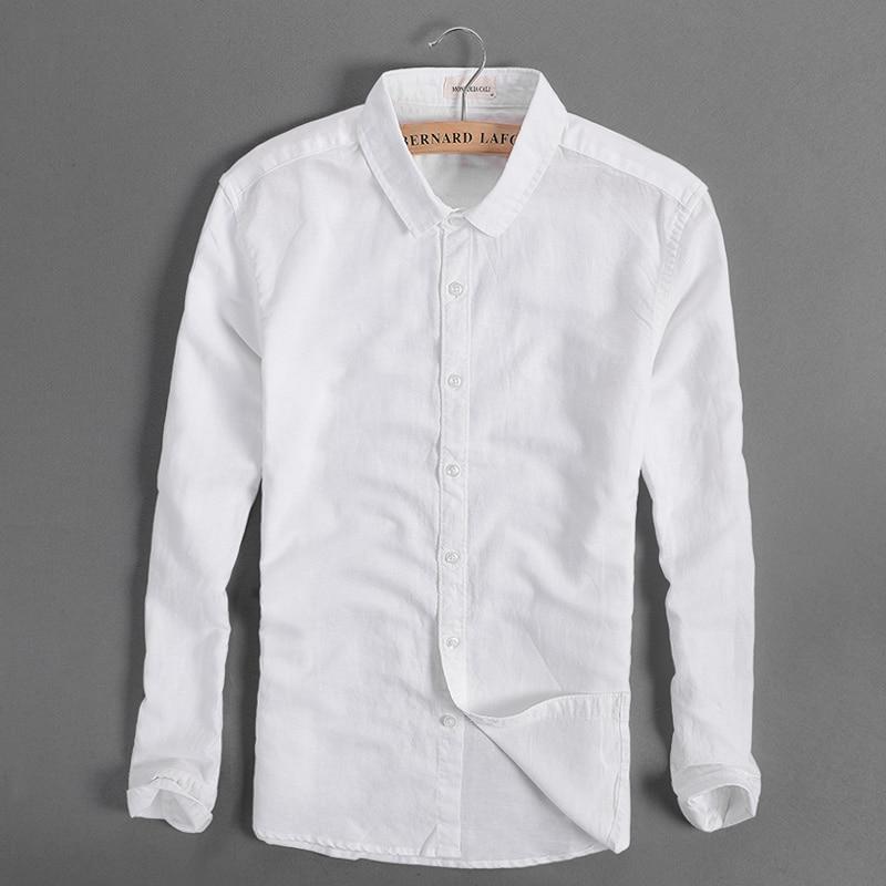 Popular White Linen Long Sleeve Shirts for Men-Buy Cheap White ...