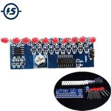 NE555+CD4017 Flash Lamp DIY Kits Flashing LED Light Suite 2.5-14.5V 5.4x2.1cm Electronic
