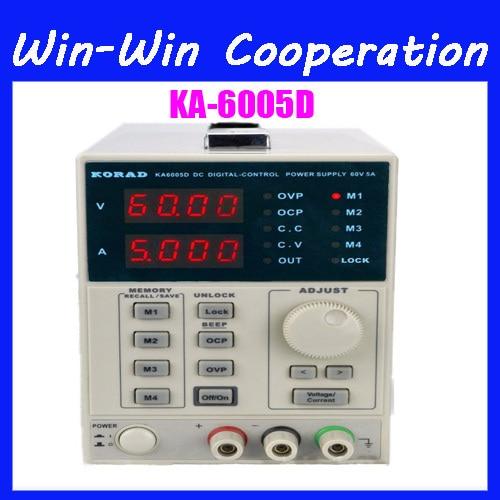 KORAD KA6005D -Precision Variable Adjustable 60V, 5A DC Linear Power Supply Digital Regulated Lab Grade korad ka3010d 0 30v 0 10a high precision linear power supply adjustable digital regulated digital control dc power supply