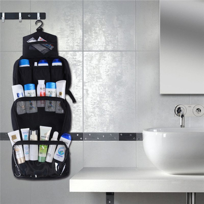 Купить с кэшбэком New Hanging Toiletry Bag Travel Toiletry Wash Organizer Kit for Men Women Cosmetics Make Up Sturdy Hanging Hook Shower Bags