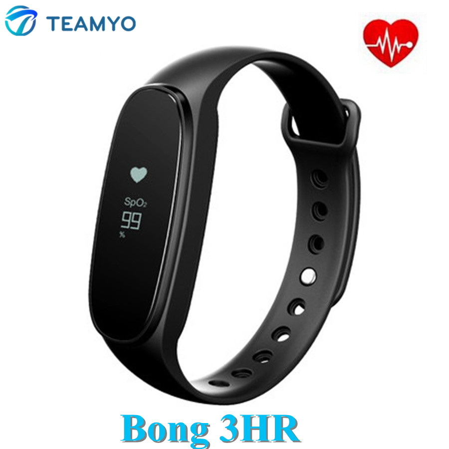 Teamyo Original Bong 3 HR Smart Band Heart Rate Monitor Sleep Tracker Oximetry Bracelet Sport Smartband