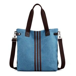 Image 2 - Nieuwe Eenvoudige Grote Capaciteit Ontwerp Canvas Vrouwen Messenger Bag Mode Meisjes Handtas Schoudertas Dagelijkse Boodschappentas