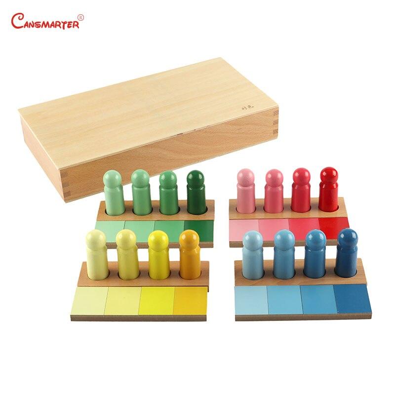 Montessori Couleur Ressemblance Tâche de Tri En Bois Éducation Précoce Enfants Jouet En Bois Couleur Exercices Avec la Boîte Jeu Sensorielle SE054-NX3